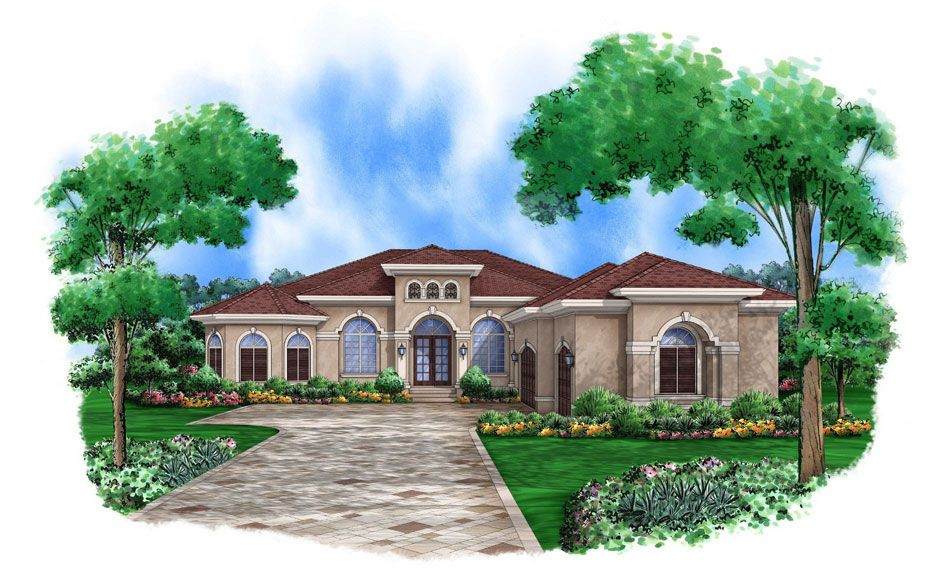 European House Plans Luxurious European Home Plan