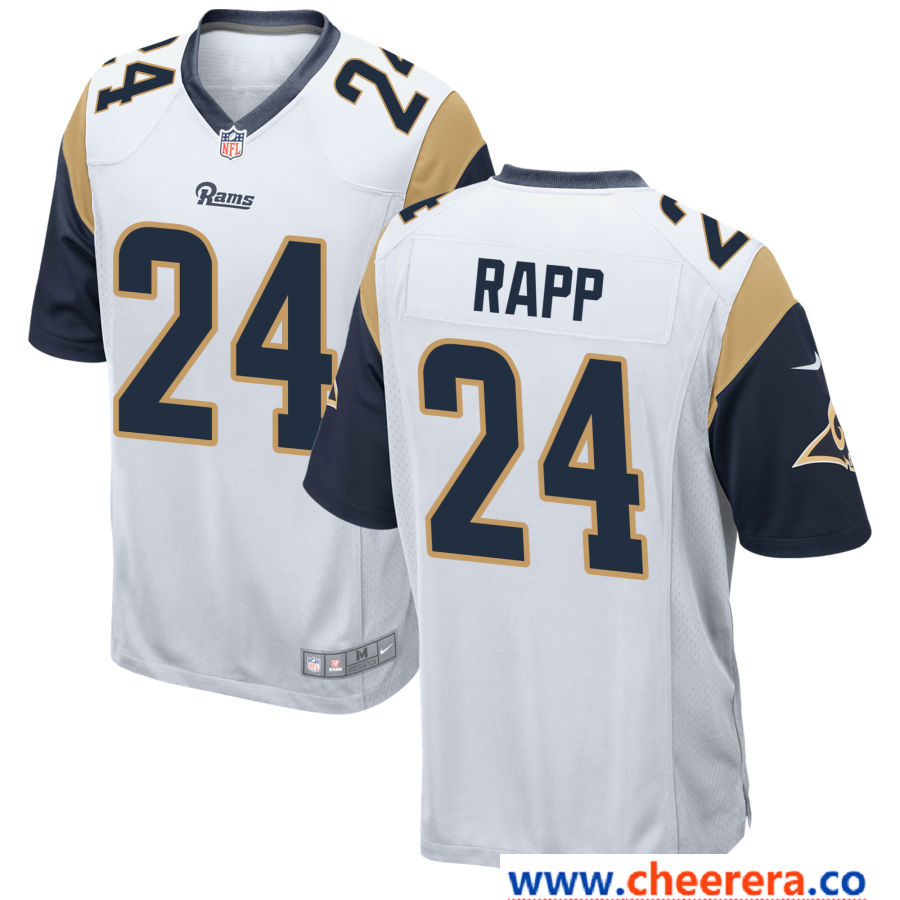 competitive price 42ed1 c6514 Men's Los Angeles Rams #24 Taylor Rapp White Road Stitched ...