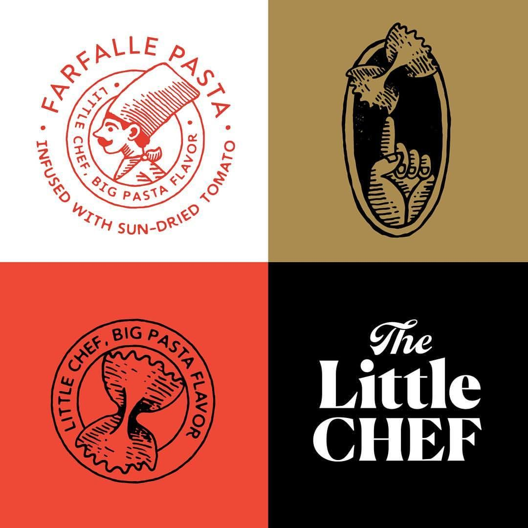 Carpenter Collective On Instagram Some Of The Brand Assets From The Little Chef Identity S Restaurant Logo Design Design Inspiration Italian Restaurant Logos
