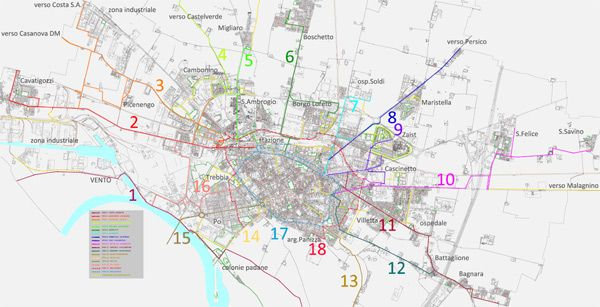 Biciplan Cremona - mappa generale