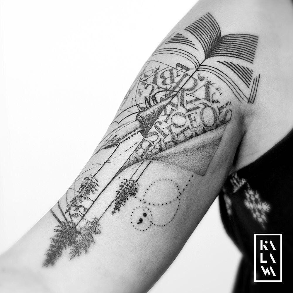 Graphic Book Tattoo Tatouage Graphique Sur Le Theme Du Livre By Kalawa Tattooer Tattoo Dotwork Artist From Aix En Pr Tattoos Geometric Tattoo Black Tattoos