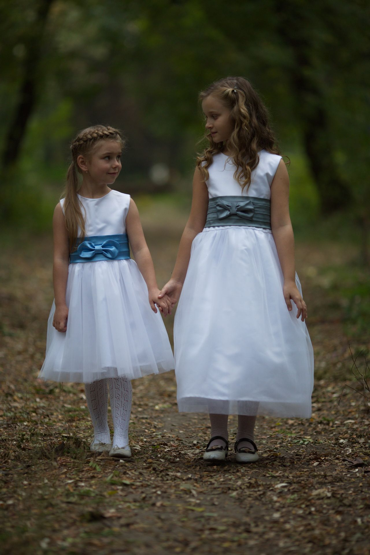 White And Blue Amazing Dress For A Real Little Bride A Flower