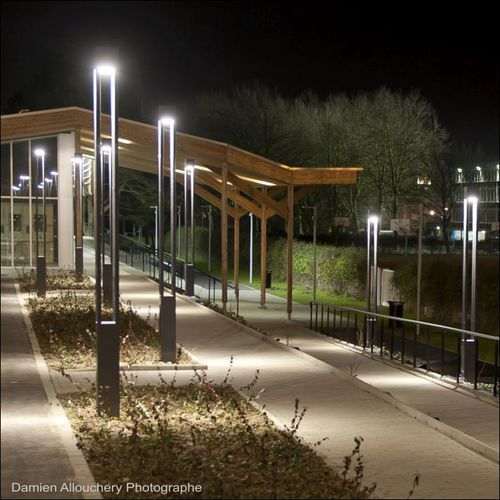 contemporary light column stainless steel led outdoor colonna