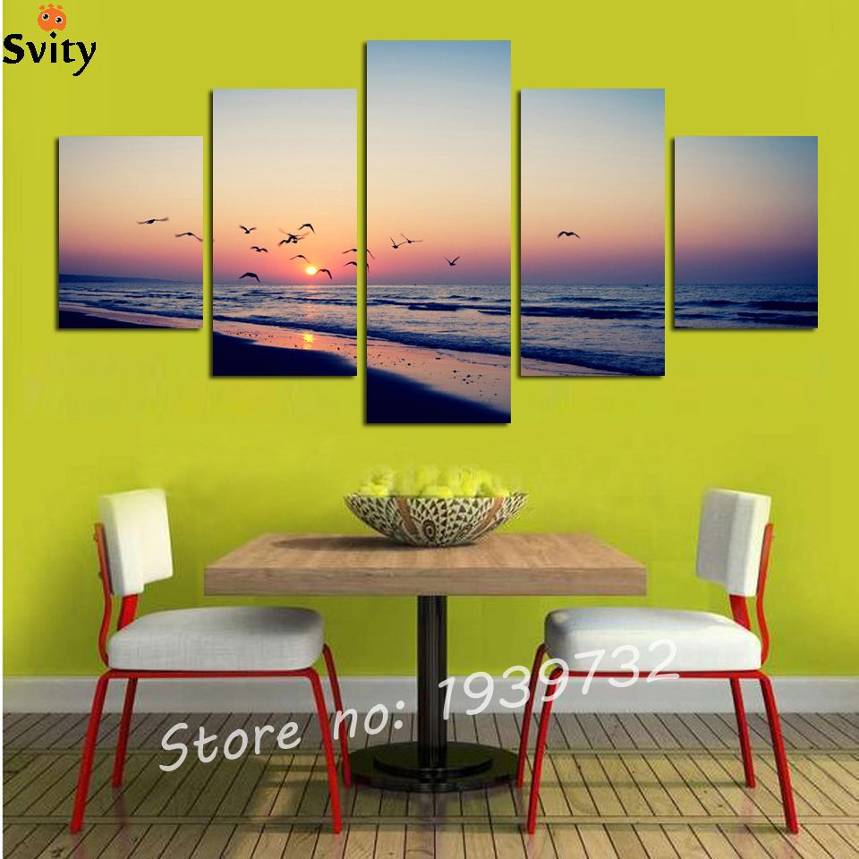 Wholesale 5 panel large HD printed canvas print poster painting ...