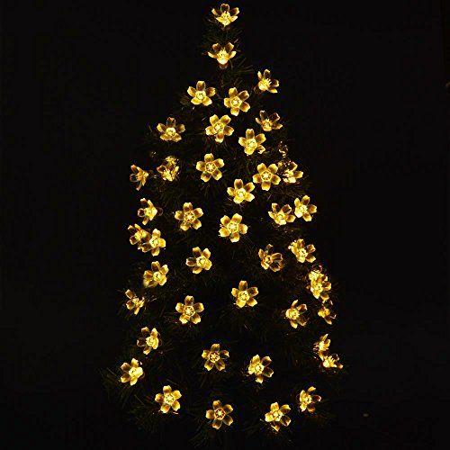 lederTEK Solar Christmas Flower Starry Fairy String Lights 21ft 50