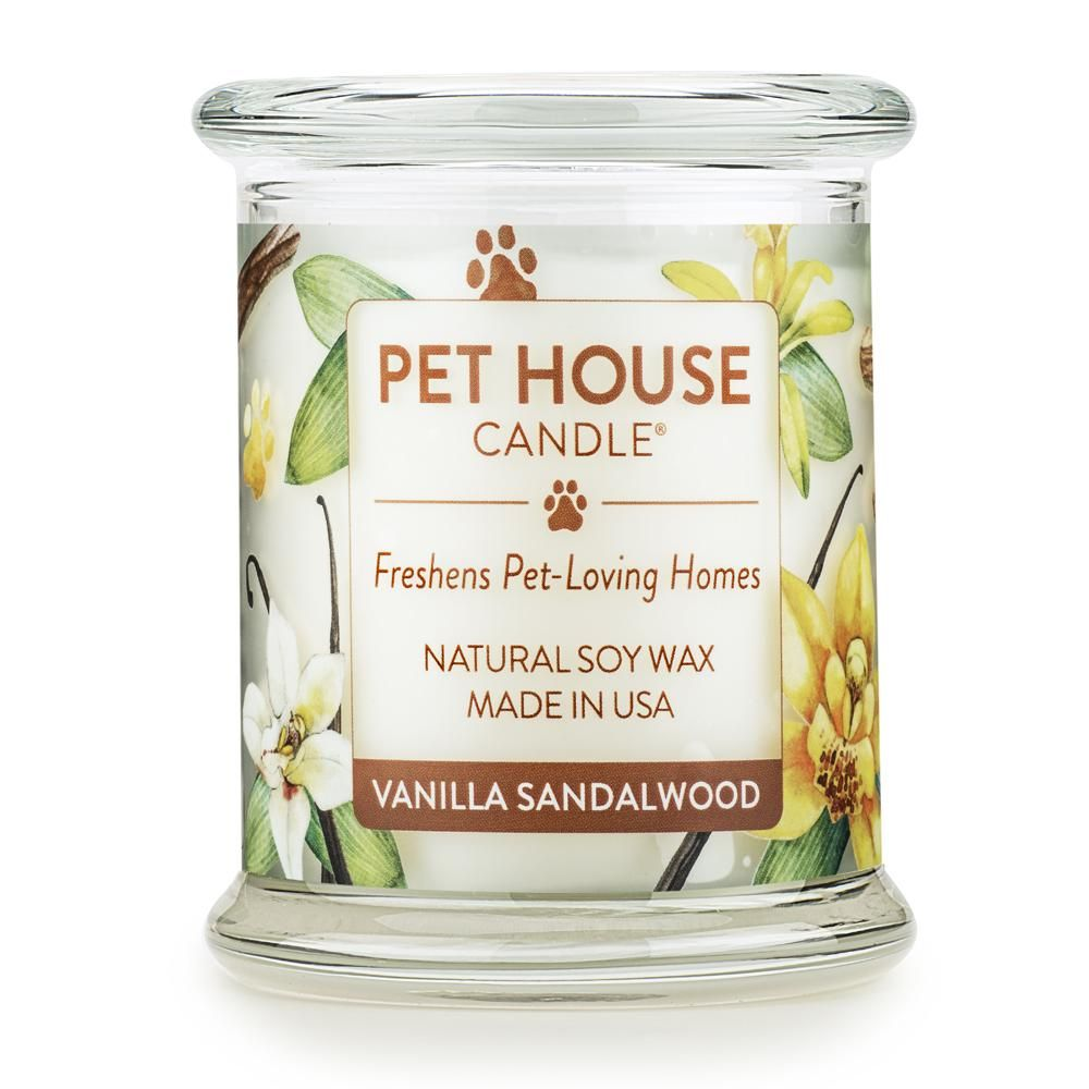 Vanilla Sandalwood Candle | Pet Products to Remove Odor: Candles