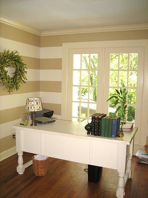 Guest Project -- Make a Kitchen Garden Wall!! | Striped walls, Walls ...
