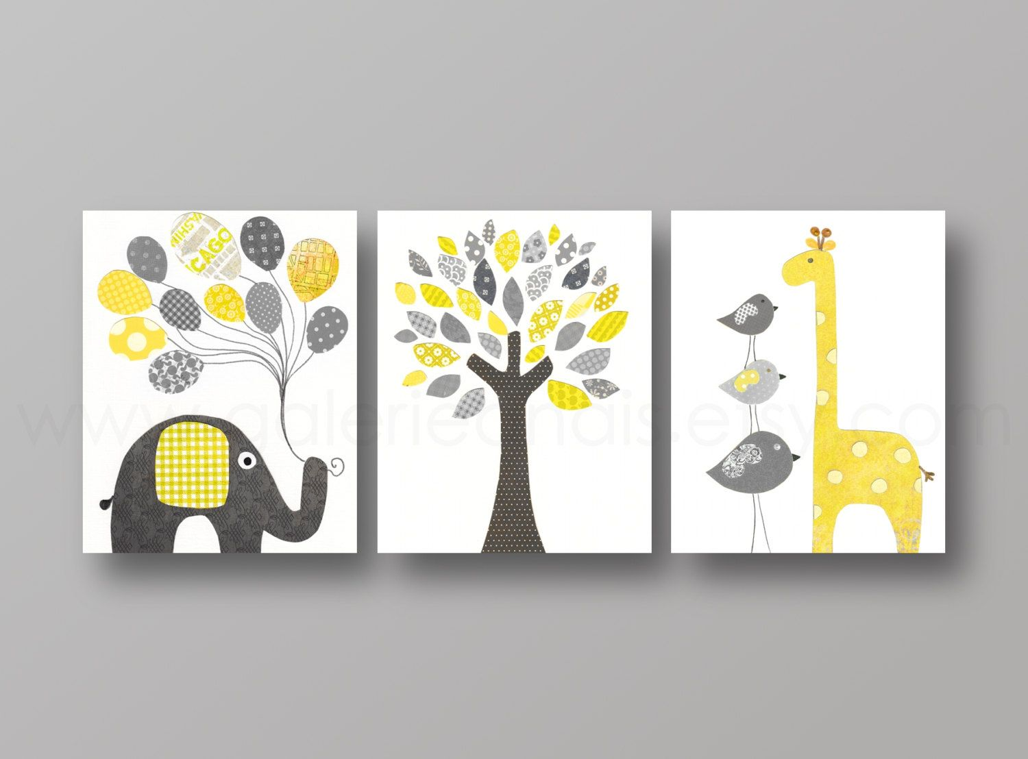 Nursery art print nursery wall decor baby nursery by Nursery wall ideas