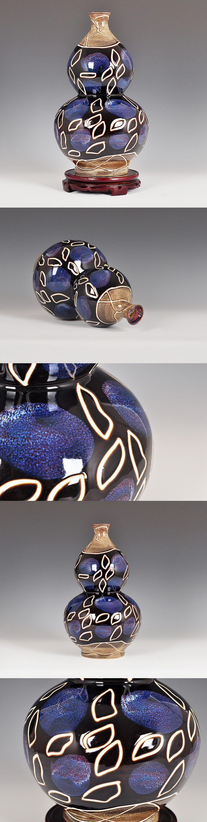 Are lucky gourd vase living room modern minimalist flower floral decor decoration Home Furnishing stem $84.52