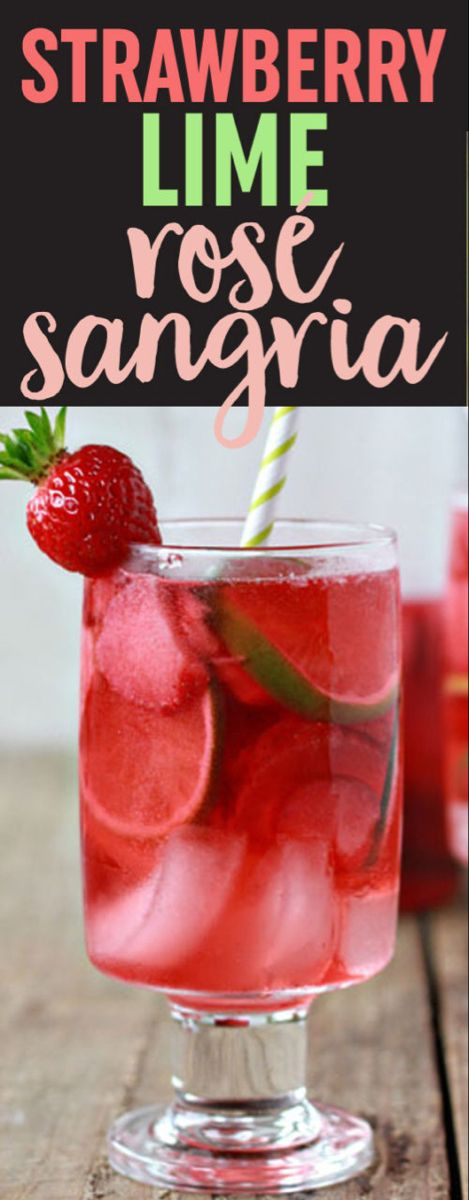 Strawberry Lime Rosé Sangria
