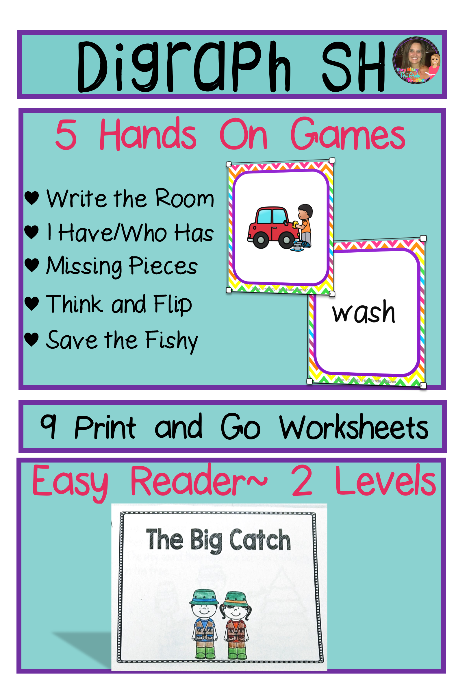 Consonant Digraph Sh Word Work Packet