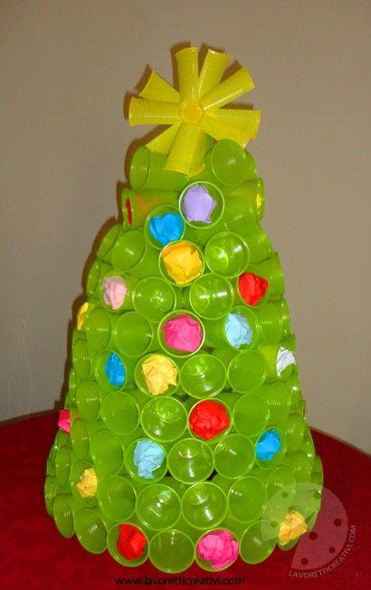 Albero Di Natale Con Bicchieri Di Plastica.In Questo Periodo Vi Proponiamo Tantissime Idee Per Le Vostre Decorazioni Nata Artigianato Di Natale Fai Da Te Decorazioni Di Natale Fai Da Te Alberi Di Natale