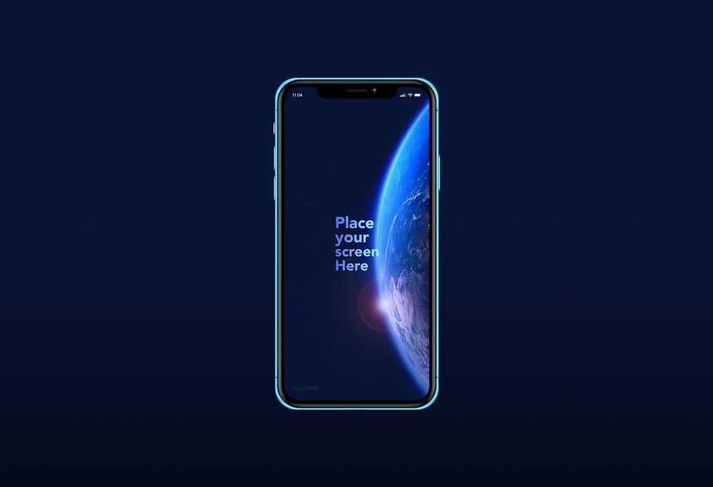 Free Iphone Xr Mockup Fully Vectorized Mockup Of A Blue Iphone Xr