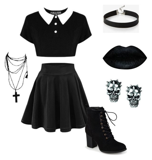 """Gothic"" by meli-ketto on Polyvore featuring mode, Killstar, Express et Journee Collection"