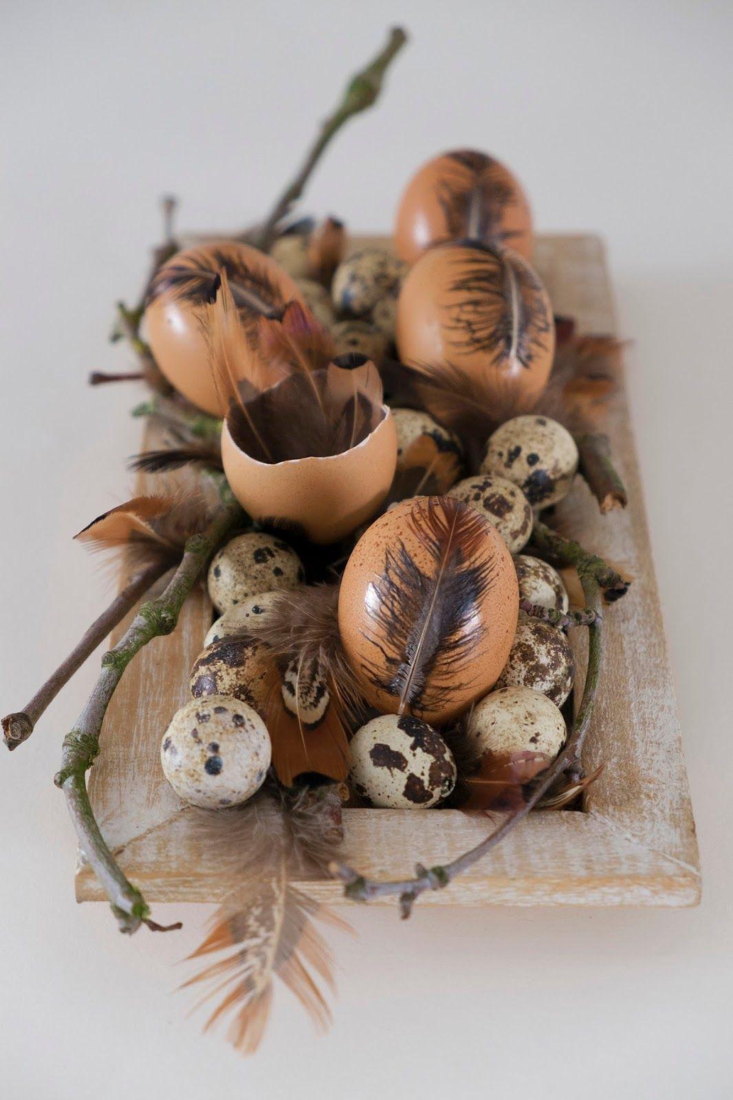 Leuk Decoreren Met Eieren En Veren Voor Pasen Paasdecoratie Elsarblog Paasdecoratie Paasideeen Eieren Kunst