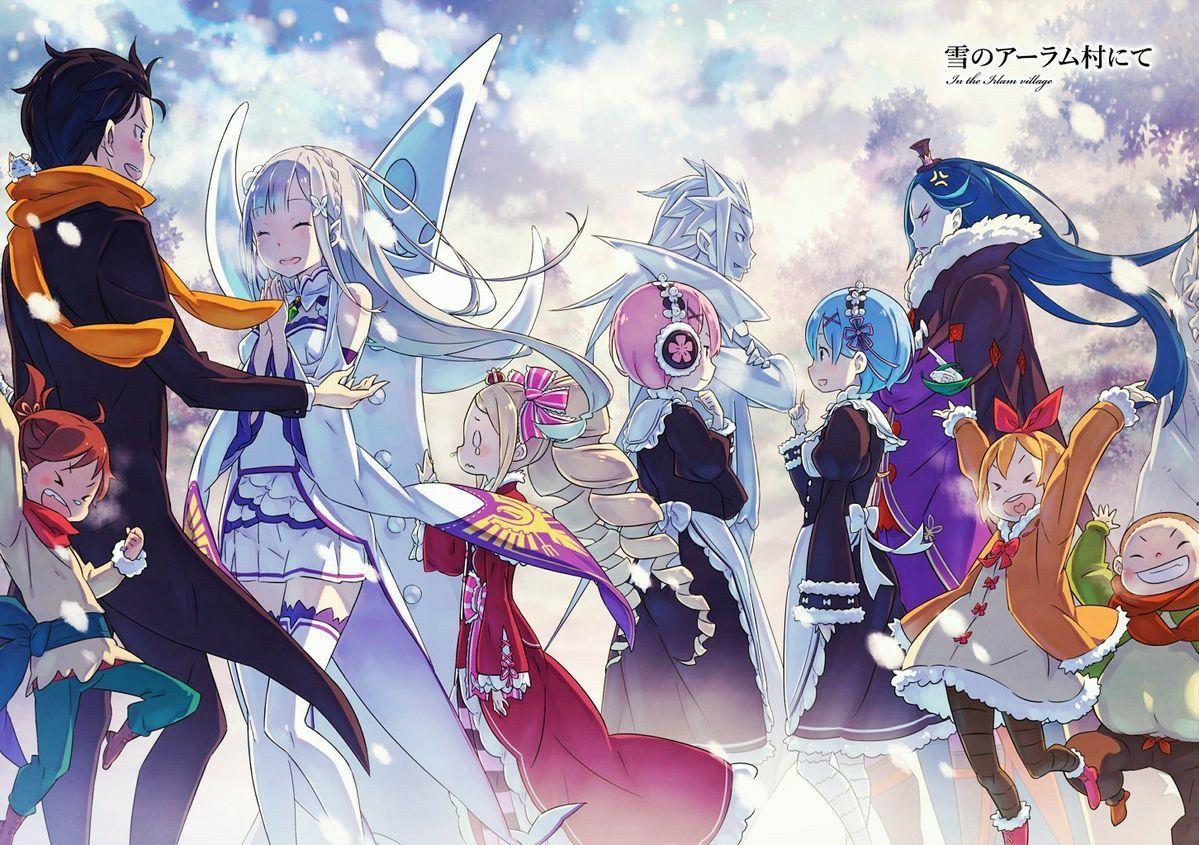 Re Zero Memory Snow Anime Neko Seni Chibi