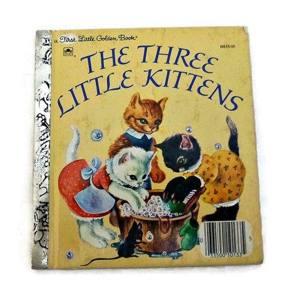 Vintage Kitten Story Book Three Little By Popcornvintagebytann Vintage Children S Books Little Golden Books Vintage Books