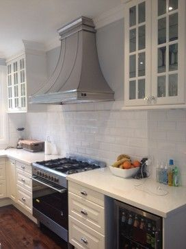 Classic White Ikea Kitchen In Australia Area At The Range With A Custom Stainless Steel Ho Kitchen Inspiration Design Ikea Kitchen Design Classic White Kitchen