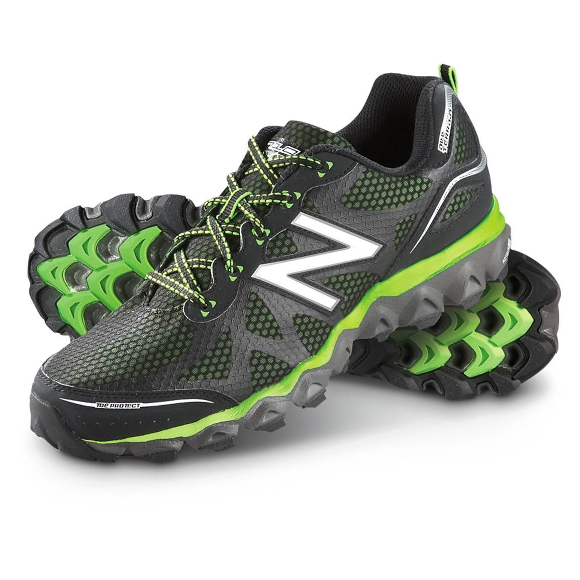 ef81bd5c87831 Men's New Balance® 710v2 Trail Running Shoes, Black / Green | Andys ...
