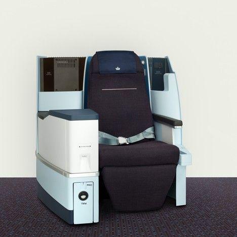 World business class cabin, KLM — Hella Jongerius