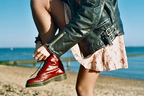 Image result for doctor martens on the beach