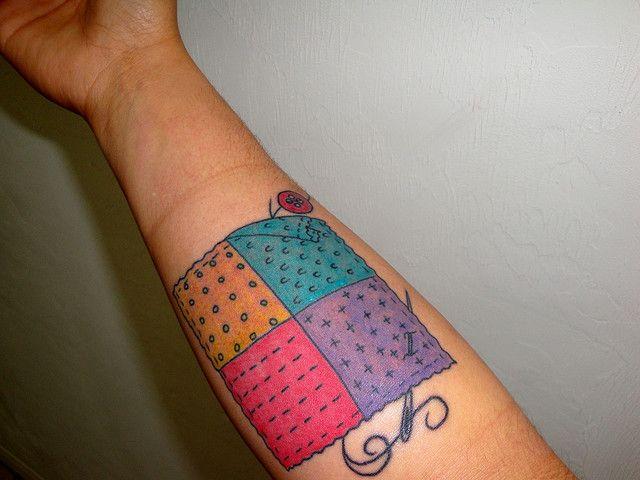 Patchwork tattoo 2 | Sewing tattoos, Tattoo and Tatting : temporary quilt tattoos - Adamdwight.com