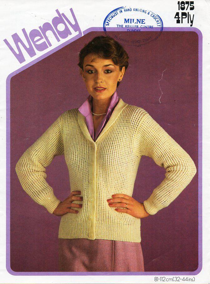 220dcde17 womens fishermans rib cardigan knitting pattern PDF download ladies ...