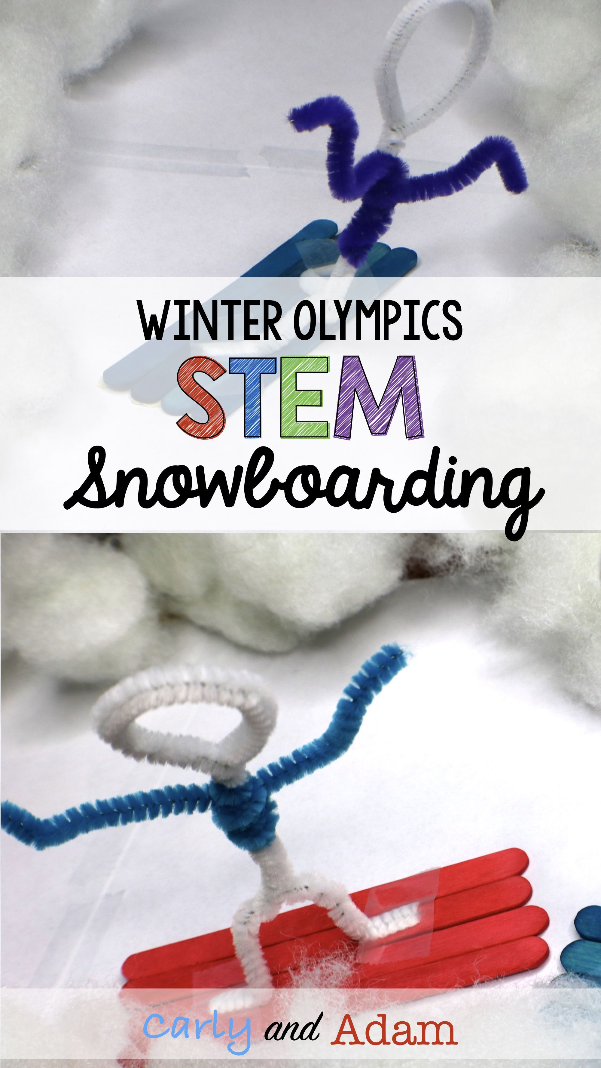 Winter Games Snowboarding Stem Activity