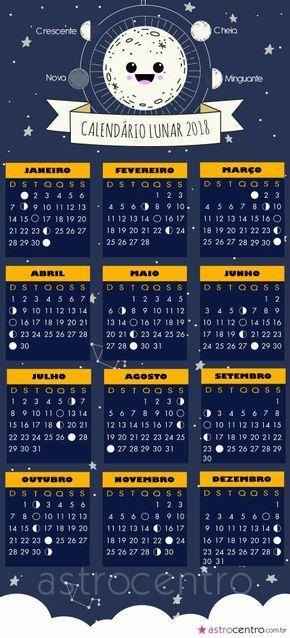 Calend rio lunar 2018 smartphone pinterest for Almanaque lunar 2017