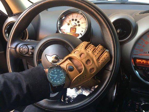 Driving Leather Gloves Men S Deerskin Leather Black Brown