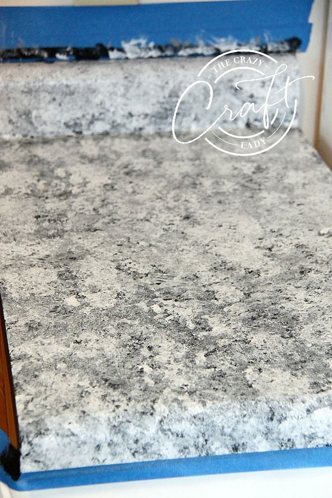 Fake The Look Of Granite Painting Laminate Counters With A Paint