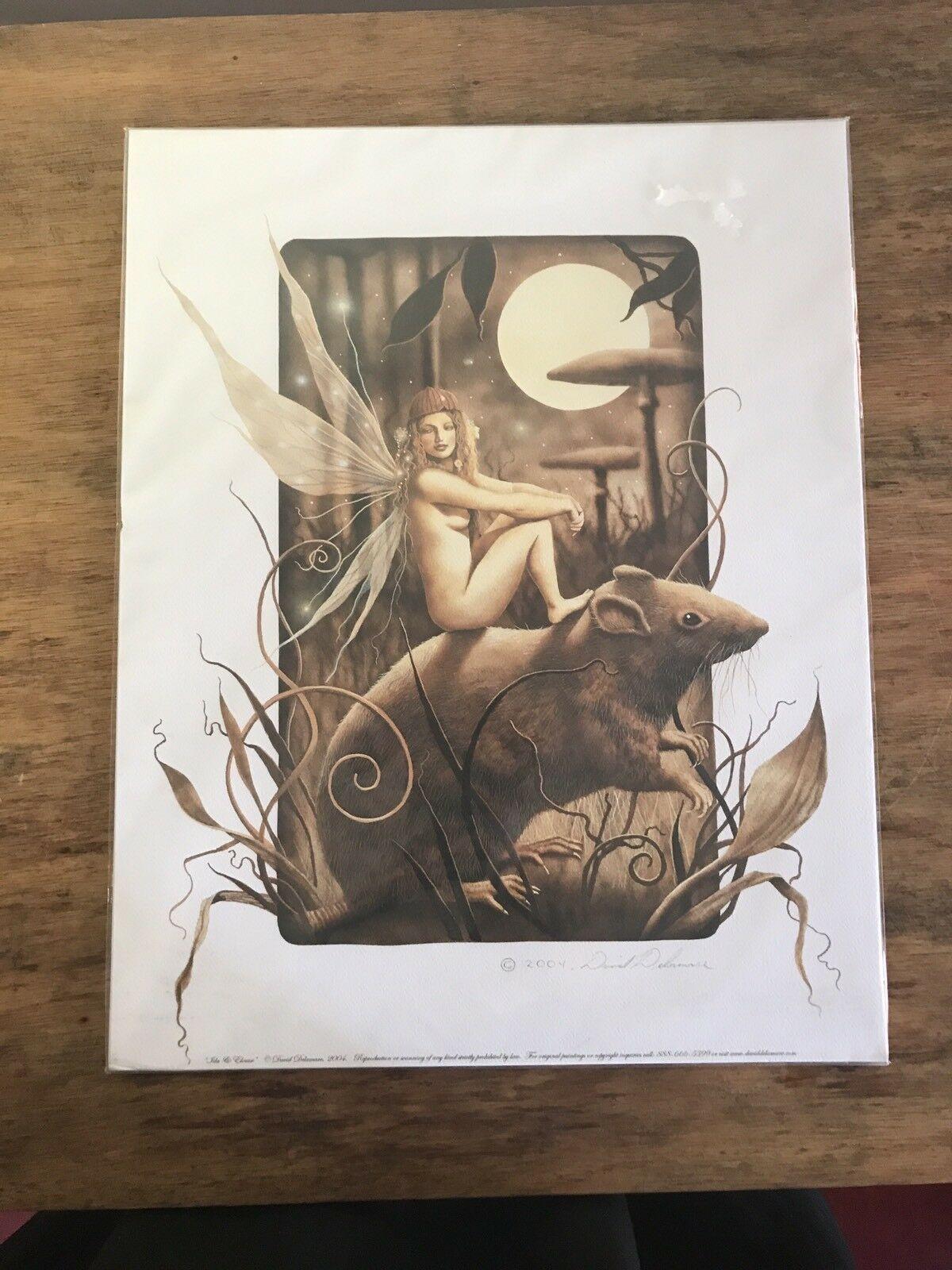 ALICE STEAMPUNK Print HAND SIGNED by Jamie Tyndall w COA Wonderland