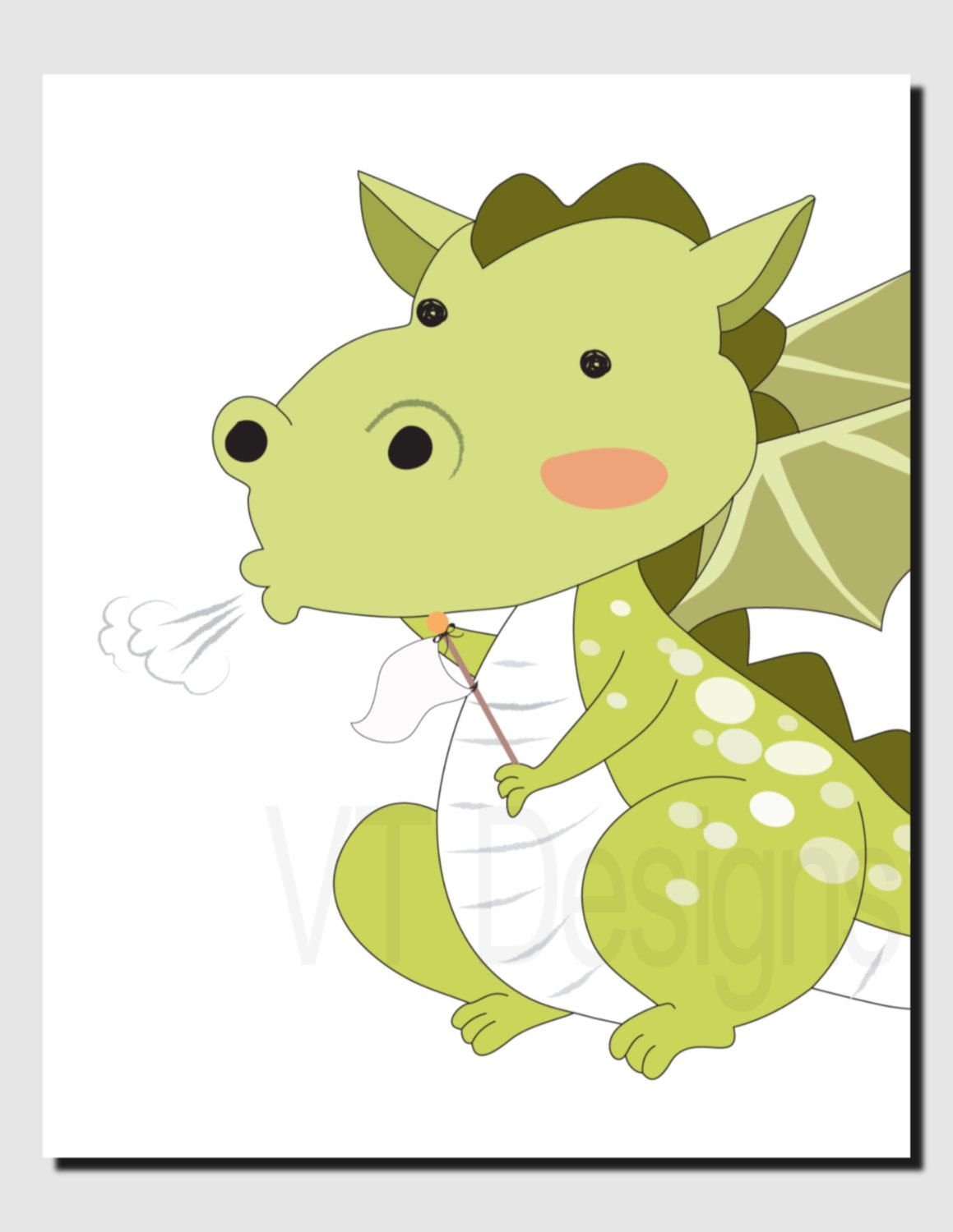 Dragon Wall Art, Kids Wall Art, Nursery Art, Baby Boy, Baby Room ...