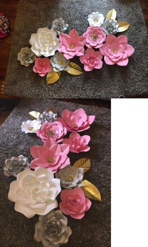 Flower embellishments 160734 3d paper flowers backdrop decoration flower embellishments 160734 3d paper flowers backdrop decoration photographyhomenurseryparty etc buy it now only 115 on ebay mightylinksfo