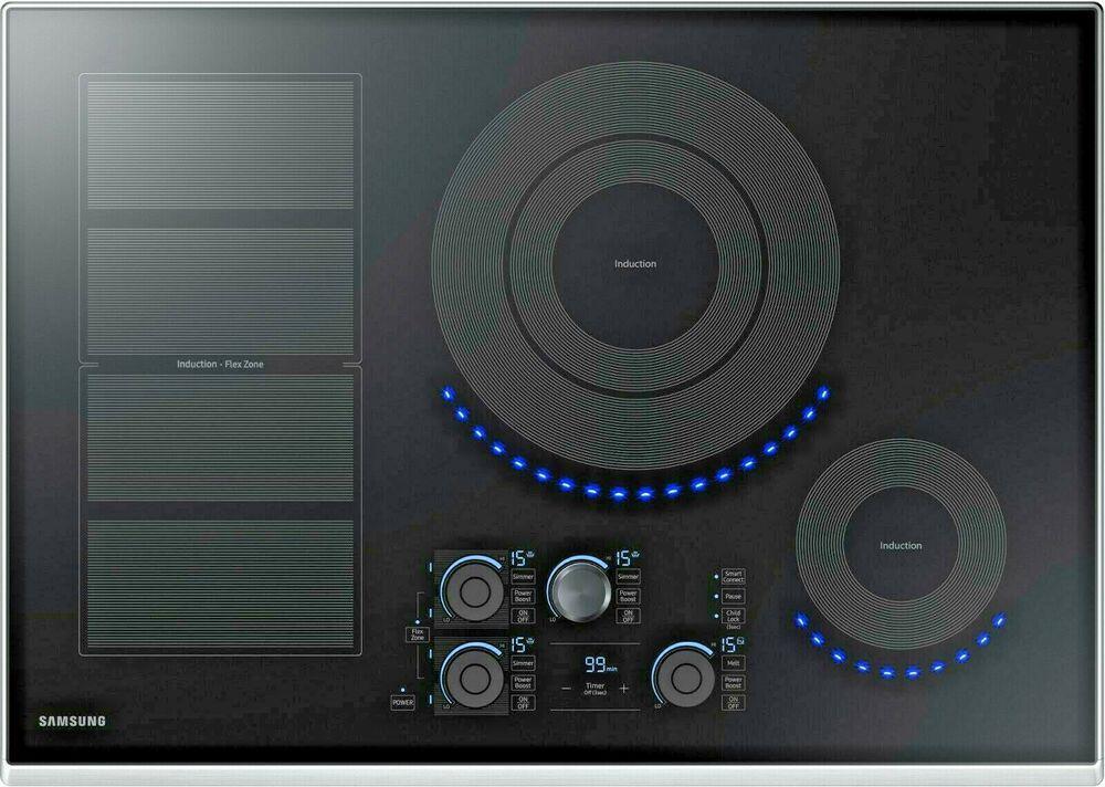 Samsung Nz30k7880us 30 Induction Cooktop 15 Set Wi Fi Stainless Steel Trim Samsung In 2020 Induction Cooktop Ebay Cooktop