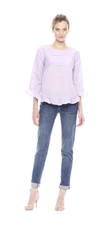 Ruffle Eyelet Blouse from Joe Fresh.  Only $49.