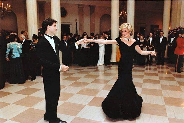 john travolta and princess diana (1985)