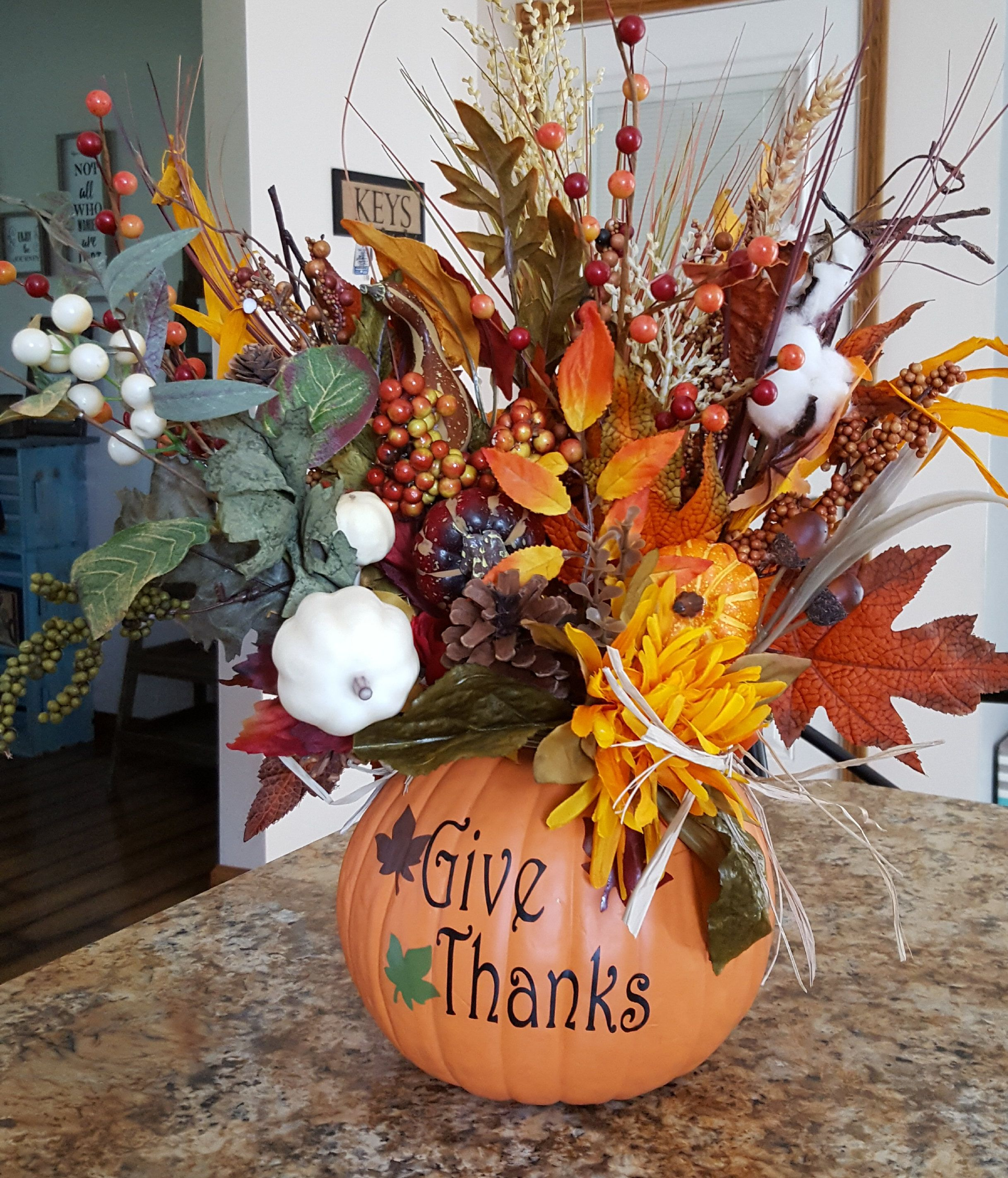 Fall Table Centerpiece, Thanksgiving Centerpiece, Autumn Décor ...