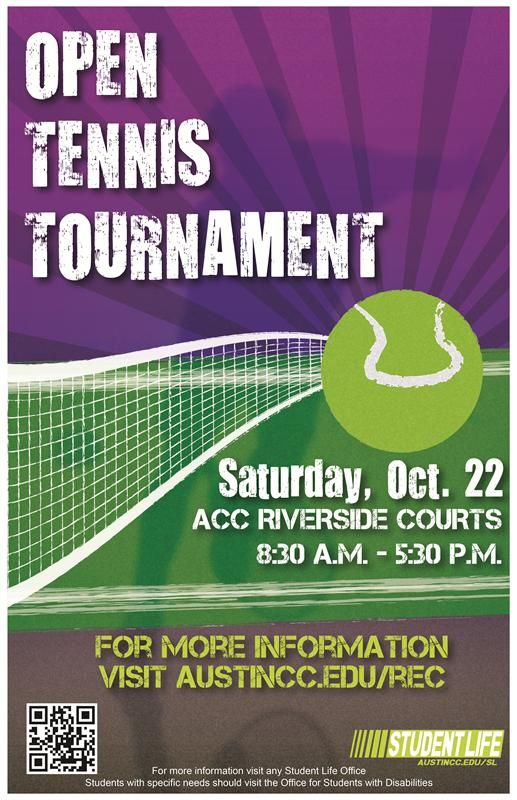 Intramural Sports And Recreation Tennis Tournament Tennis Posters Tennis Tournaments Tennis