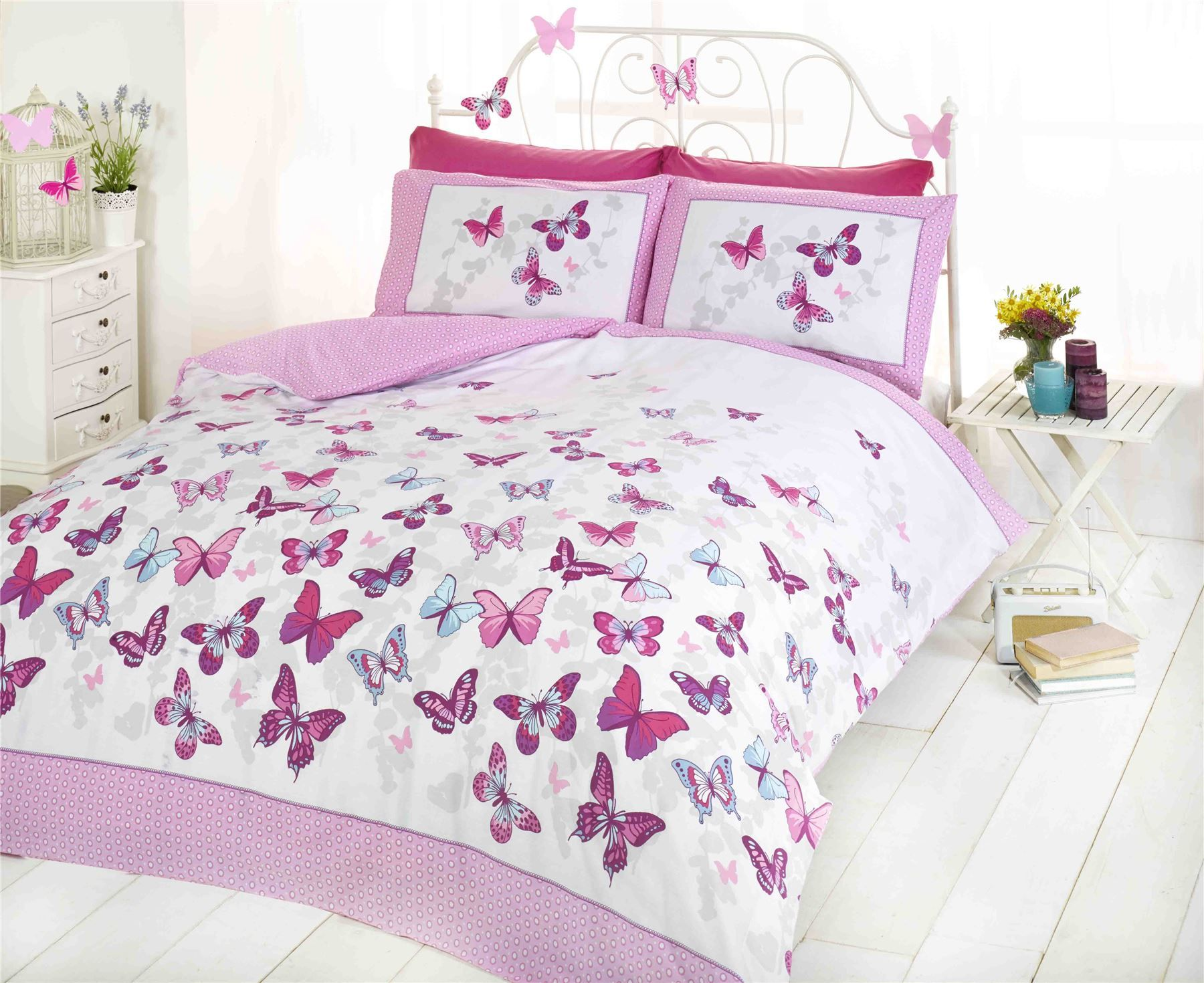 autumn ready comforter butterfly pin bedding wilko bedroom for your transform with