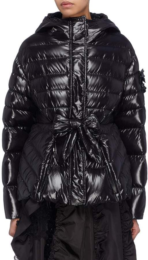cce34a7001b5 x Simone Rocha  Lolly  bow front peplum down puffer jacket