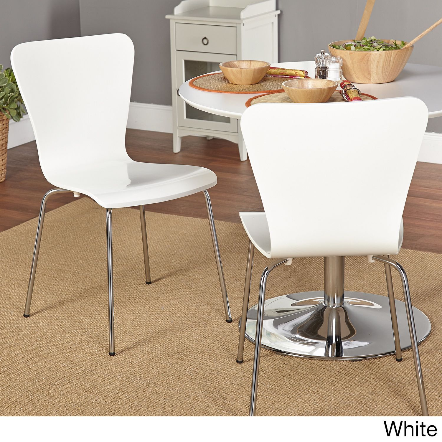 32 Stylish Dining Room Ideas To Impress Your Dinner Guests: This Retro Two Piece Chair Set Is Made From Bentwood And