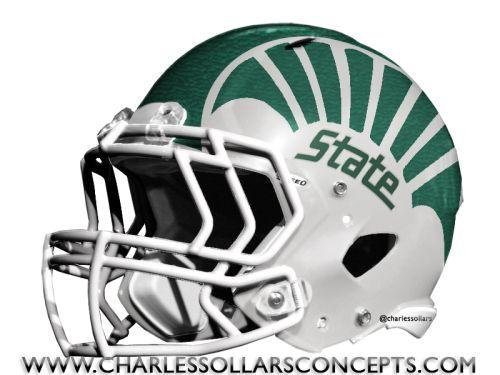 Michigan State Spartans Helmet Concepts Helmet Nfl Football Helmets Helmet Concept