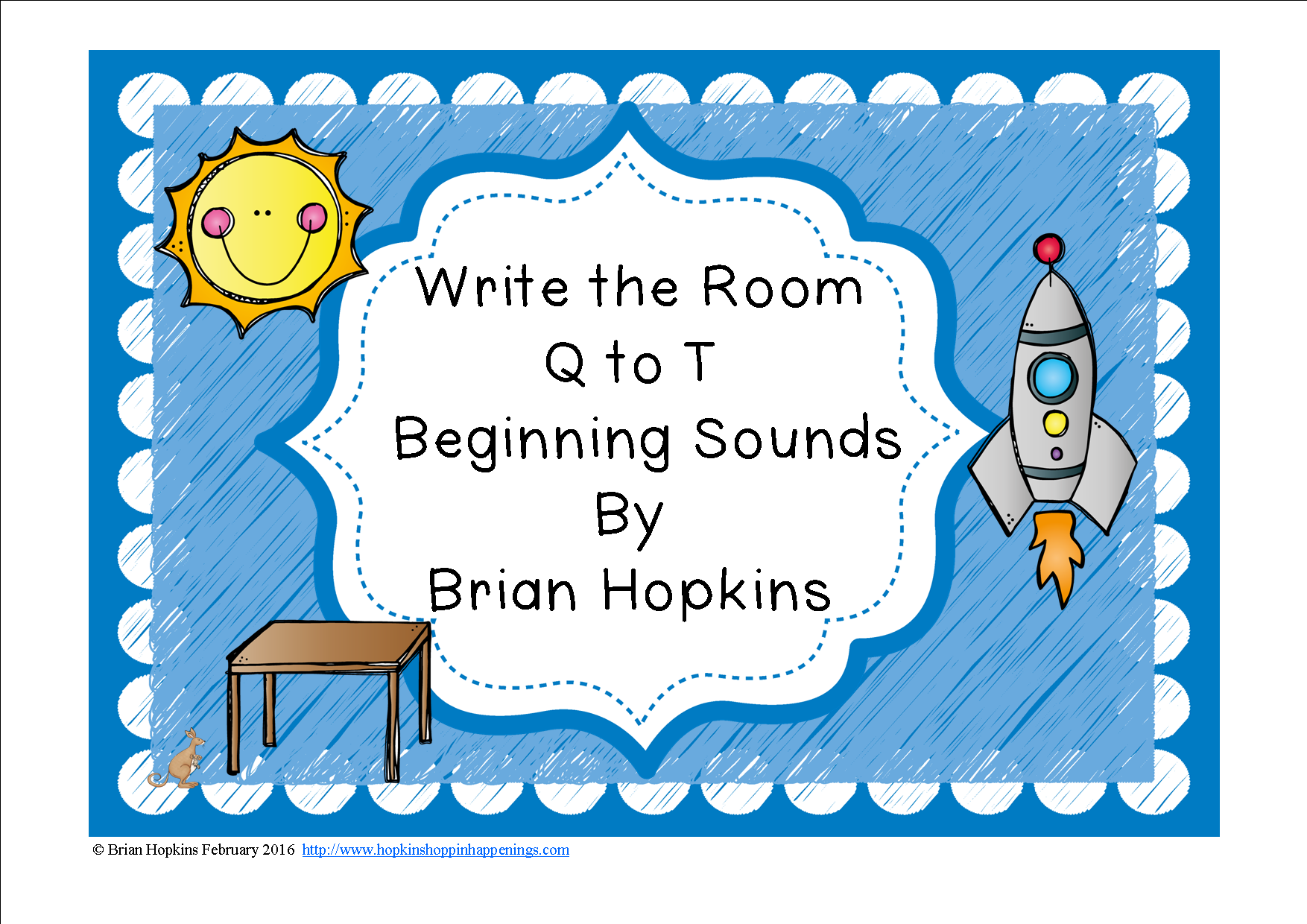 Write The Room Beginning Sounds Q To T