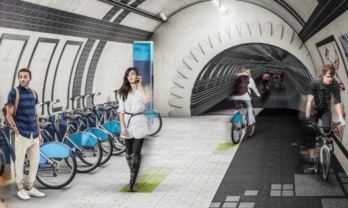 Worden de leegstaande delen van het Londense metrosysteem binnenkort omgetoverd tot ondergronds fietsnetwerk? Als het aan architectenbureau Gensler ligt wel.