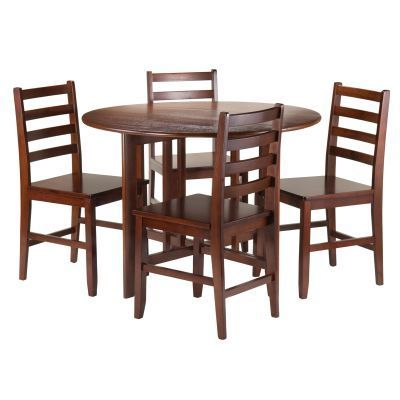 Add Alamo Round Drop Leaf Table And Four Hamilton Ladder Back Chairs To  Your Kitchen Or