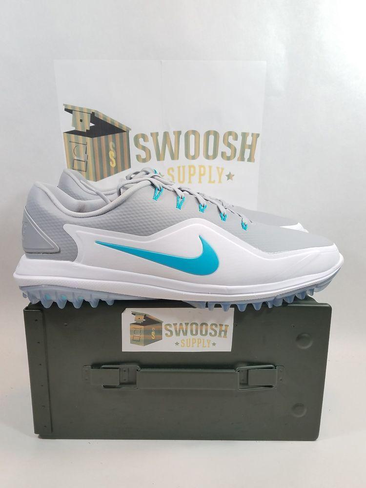 230b4886f13 Nike Lunar Control Vapor 2 Golf Shoes 899633-001 White Blue Mens Size 12   NIke  GolfShoes