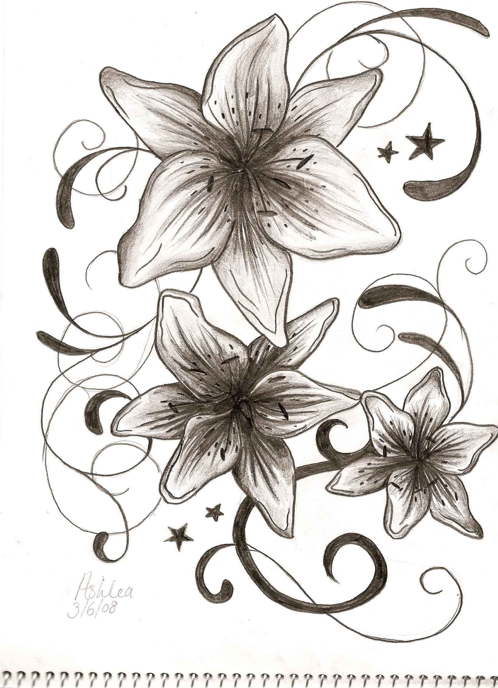 Lily flower tattoo design topsimages amazing lily flowers tattoos design tattooooos pinterest jpg 1637x2258 lily flower tattoo design izmirmasajfo