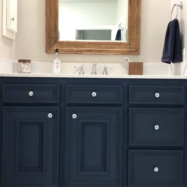 Photo of DIY Napoleonic Blue Bathroom Vanity Makeover – Abbotts At Home