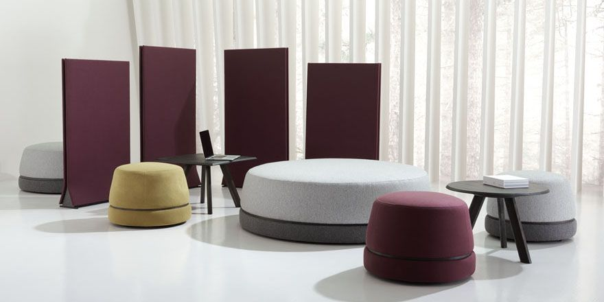 Qui Ottoman By Teknion Studio As Seen In Sources